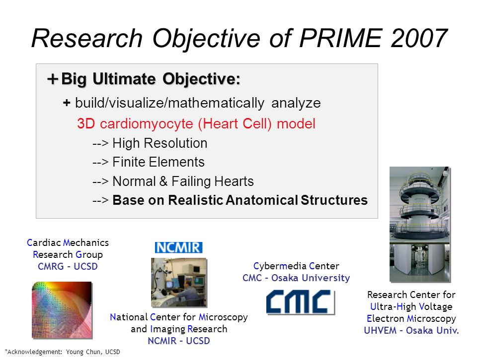 National Center for Microscopy and Imaging Research UHVEM Storage Cybermedia Center IMOD (X11 client) data Overall UHVEM - CMC - NCMIR Data flow WebDAV CCD camera controller SCP/SFTP Cell Centered Database data Research Center for Ultra-High Voltage Electron Microscopy X11 server