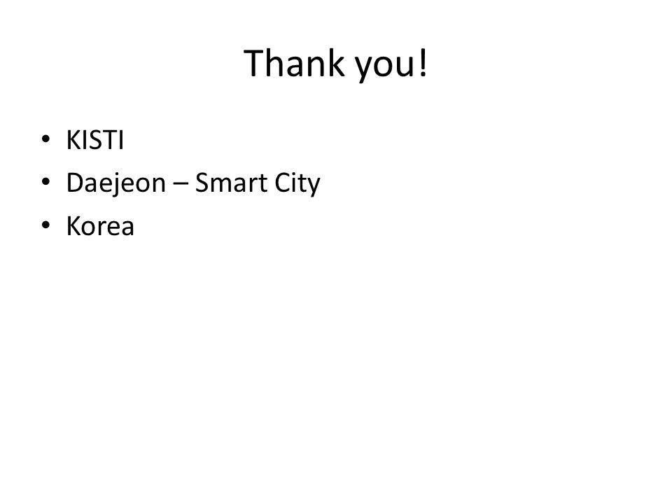 Thank you! KISTI Daejeon – Smart City Korea