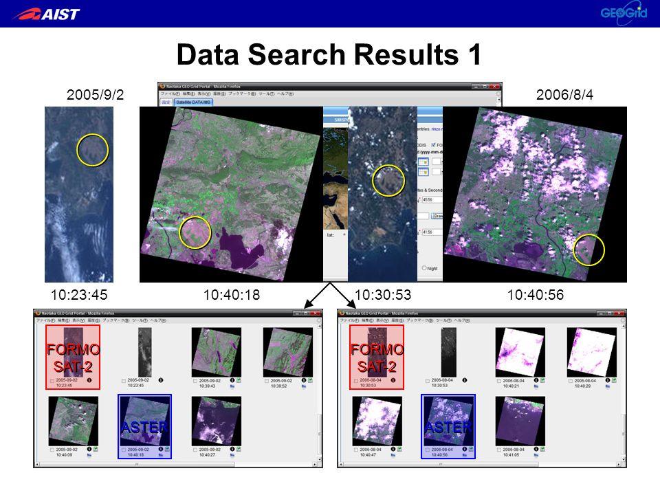 La Crau, France Data Search Results 1 FORMO SAT-2 FORMO SAT-2 FORMO SAT-2 FORMO SAT-2 ASTER 2005/9/2 2006/8/4 10:23:4510:40:1810:30:5310:40:56