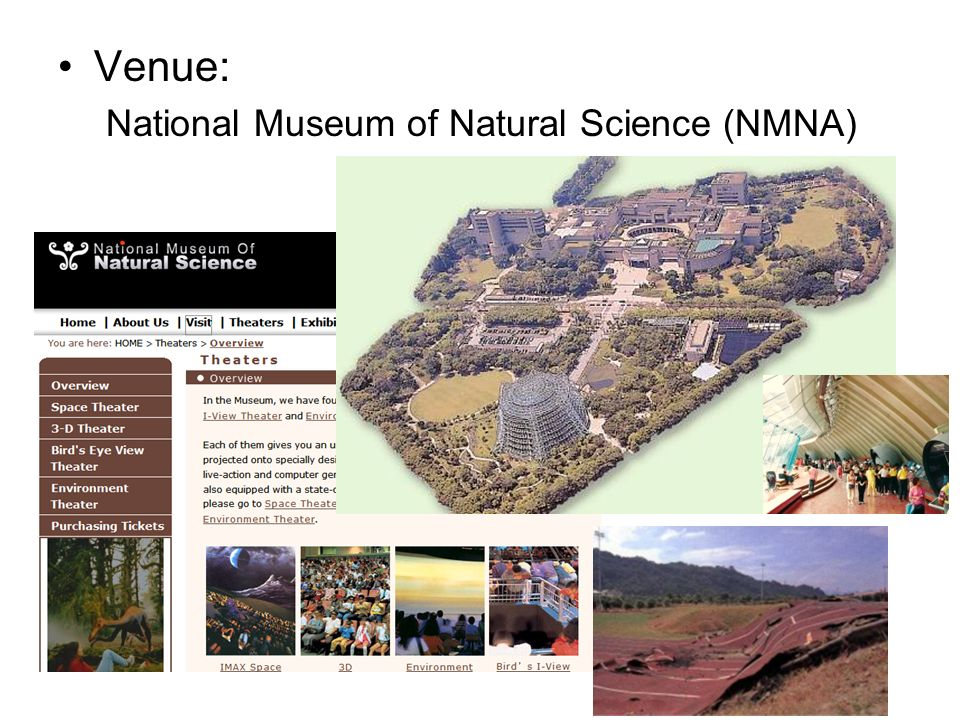 Venue: National Museum of Natural Science (NMNA)