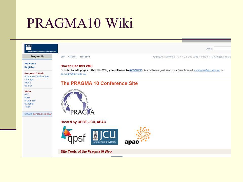PRAGMA10 Wiki