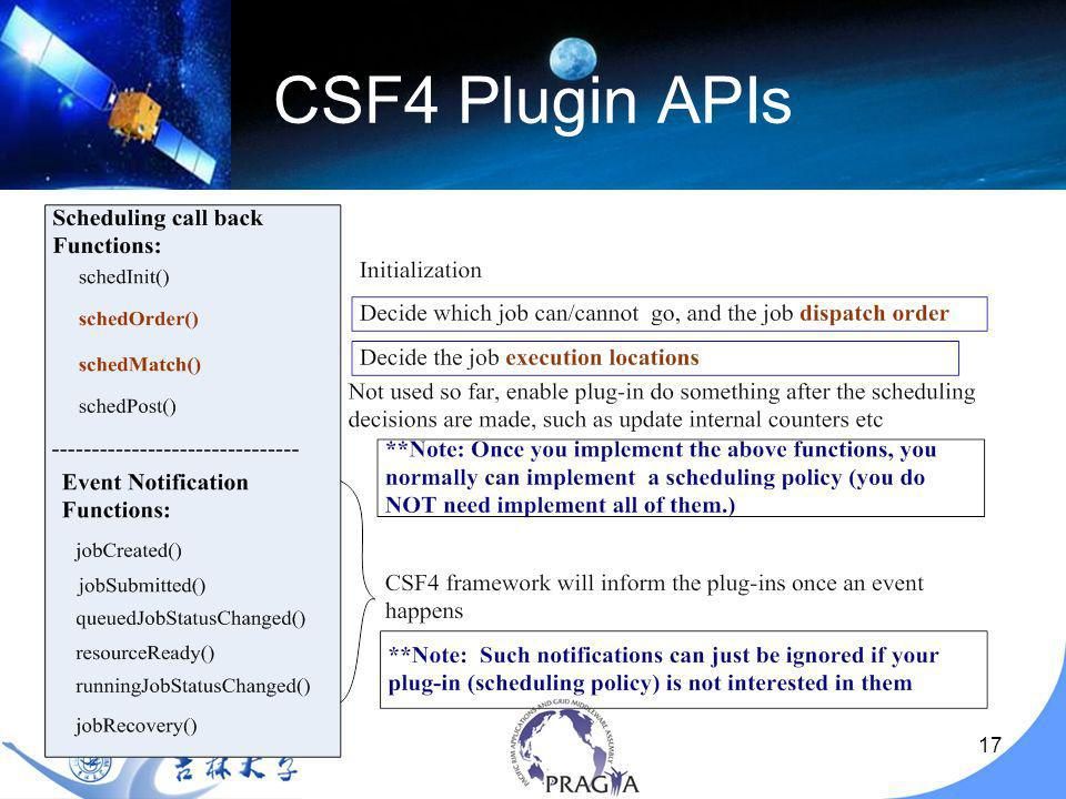 17 CSF4 Plugin APIs