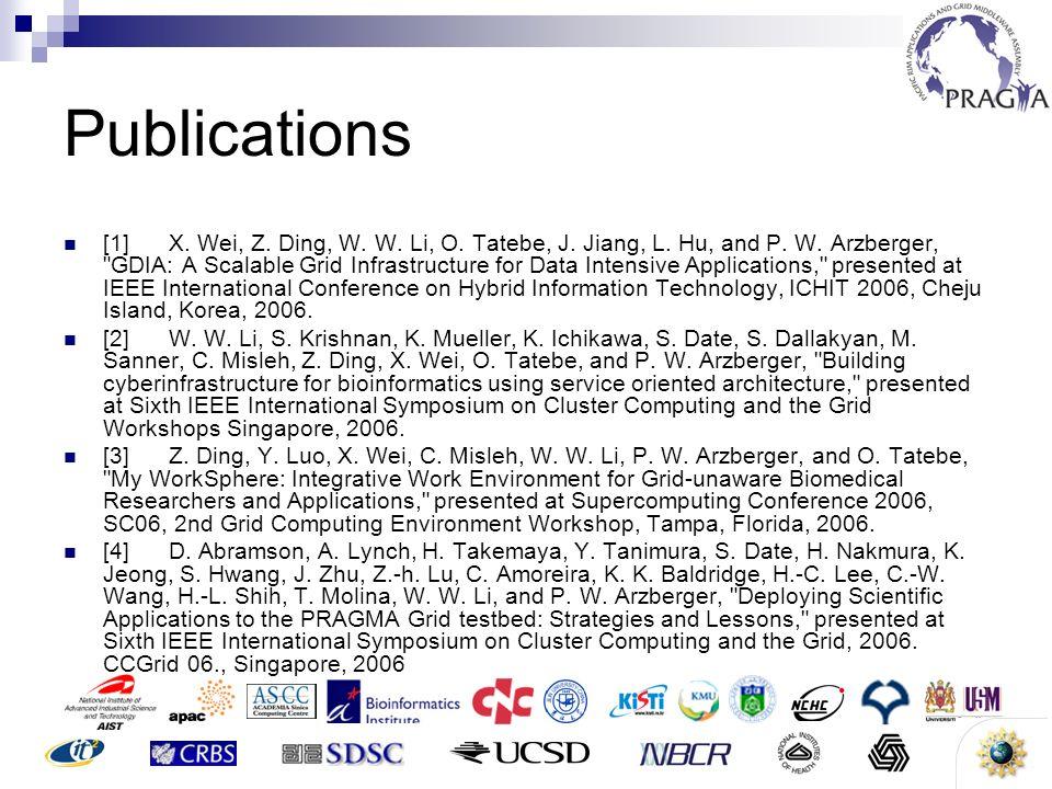 3 Publications [1]X. Wei, Z. Ding, W. W. Li, O. Tatebe, J. Jiang, L. Hu, and P. W. Arzberger,