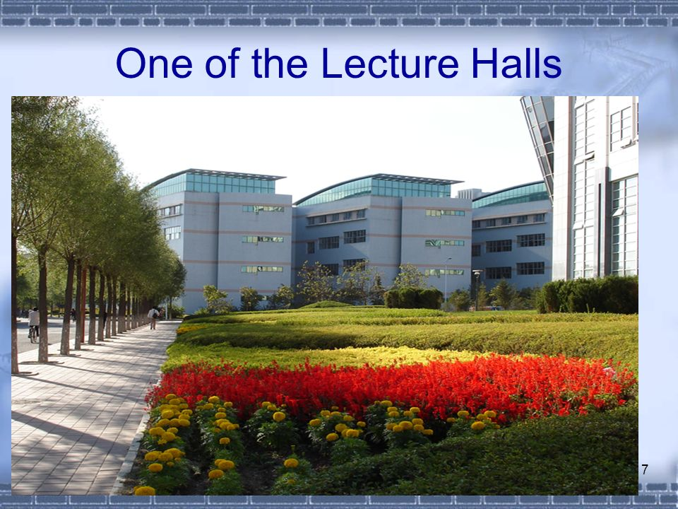 7 One of the Lecture Halls