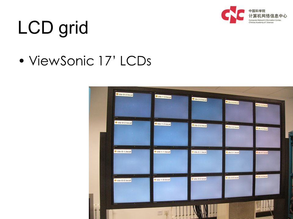 LCD grid ViewSonic 17 LCDs
