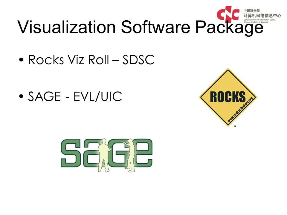 Visualization Software Package Rocks Viz Roll – SDSC SAGE - EVL/UIC