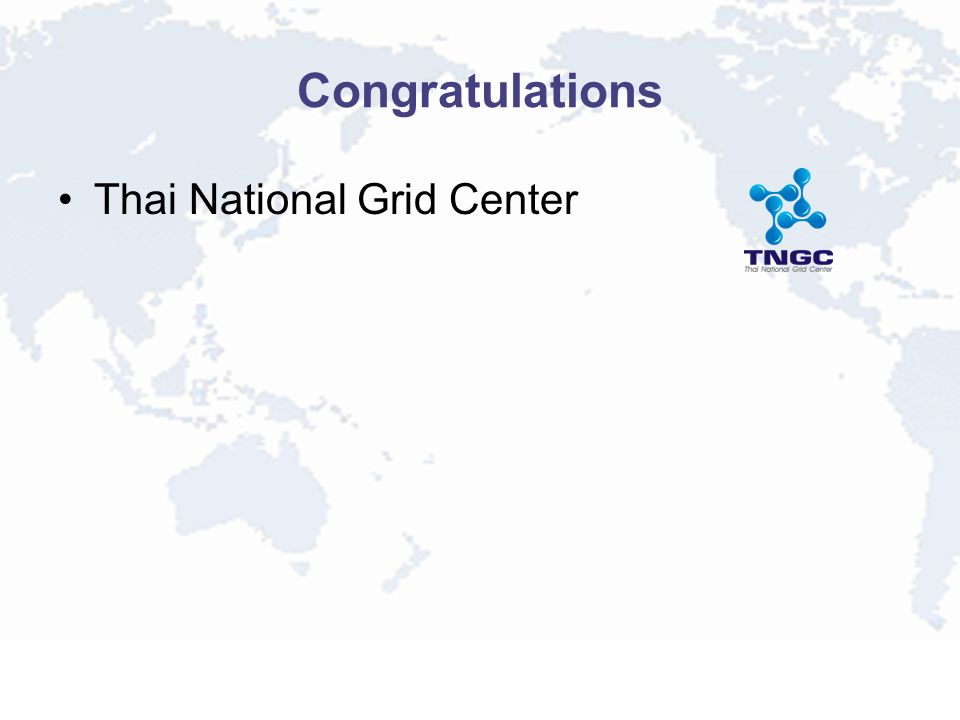 Congratulations Thai National Grid Center