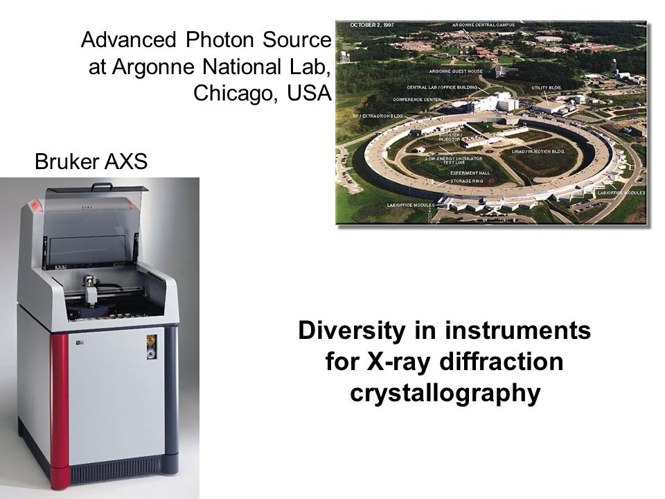 Bruker AXS Advanced Photon Source at Argonne National Lab, Chicago, USA Diversity in instruments for X-ray diffraction crystallography