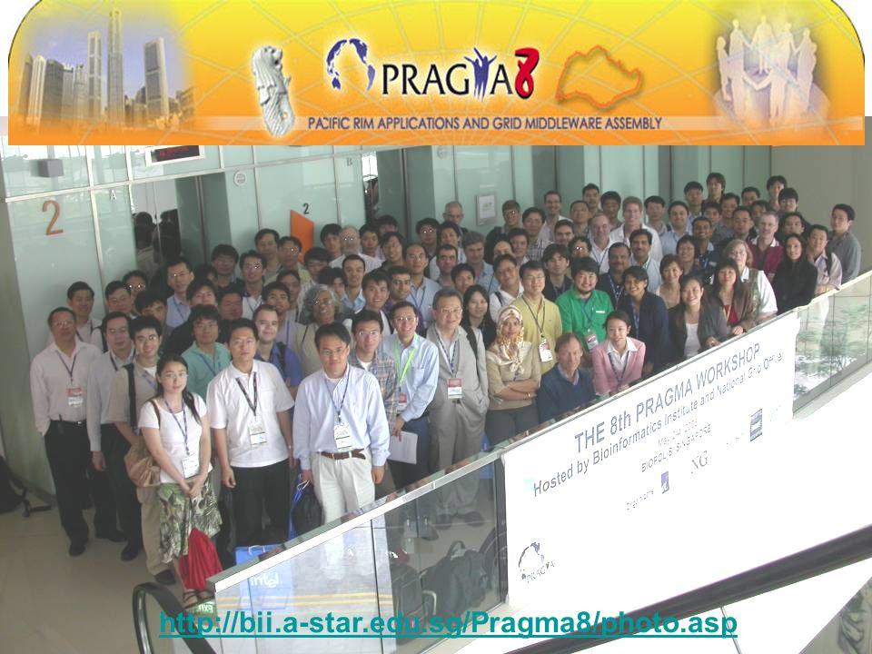 PRAGMA 8 http://bii.a-star.edu.sg/Pragma8/photo.asp