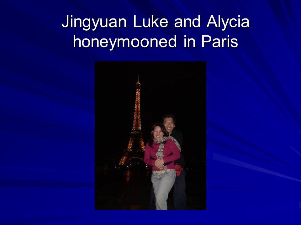 Jingyuan Luke and Alycia honeymooned in Paris