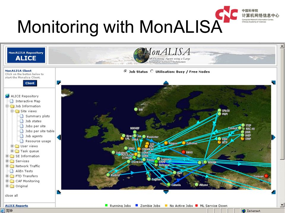 Monitoring with MonALISA