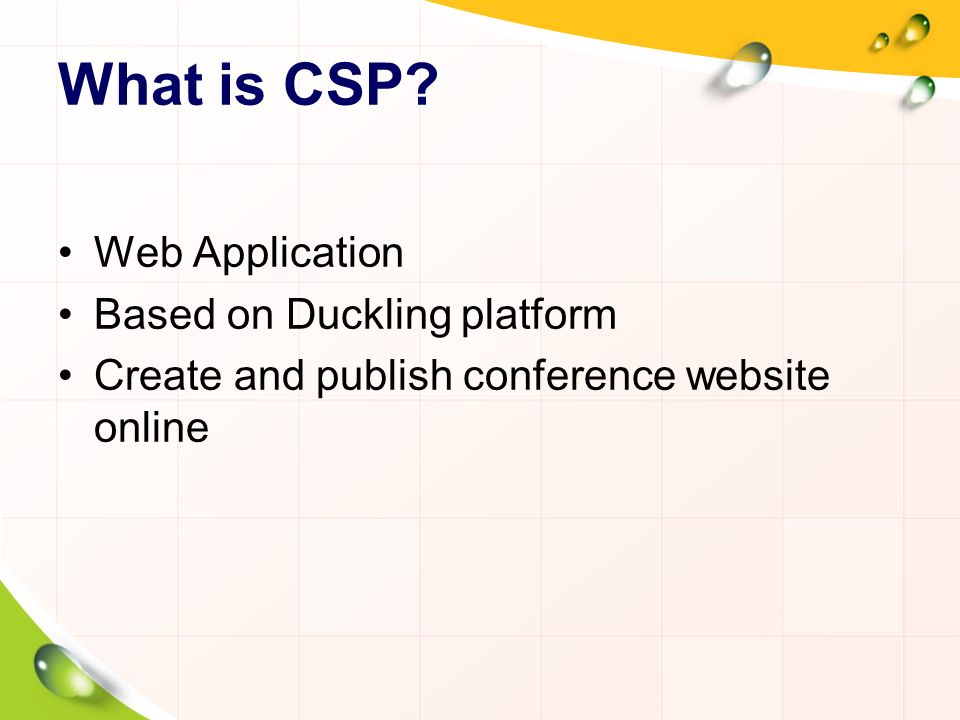 What is CSP.