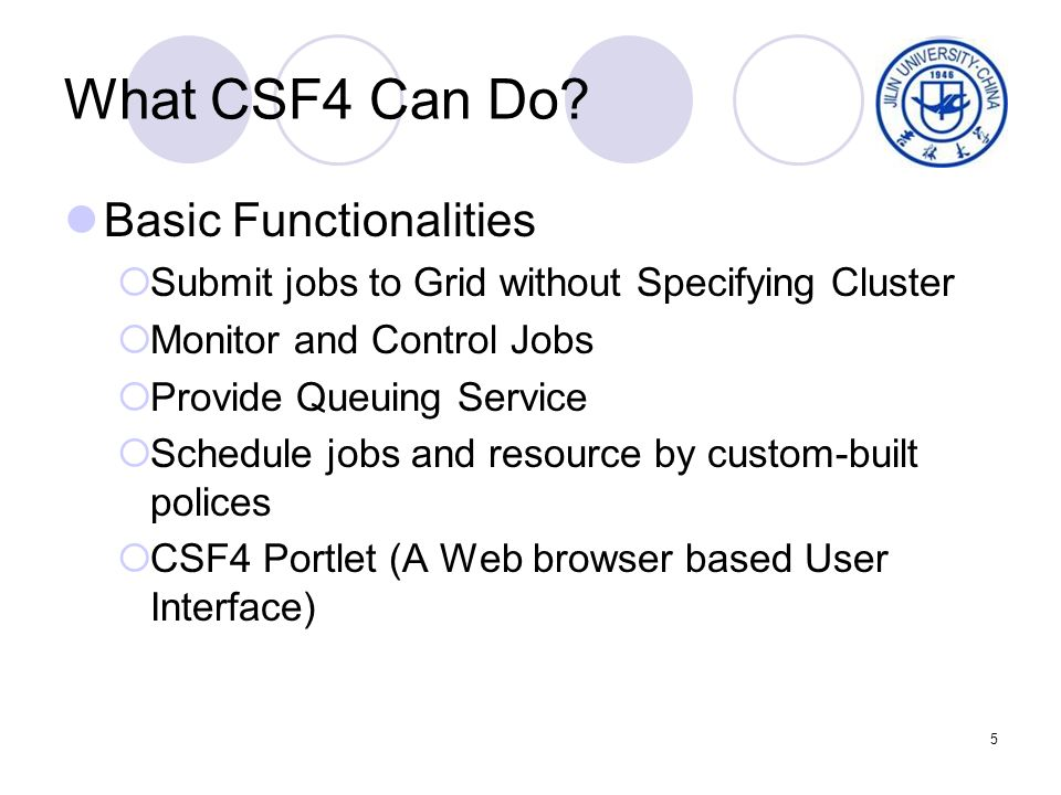 5 What CSF4 Can Do.