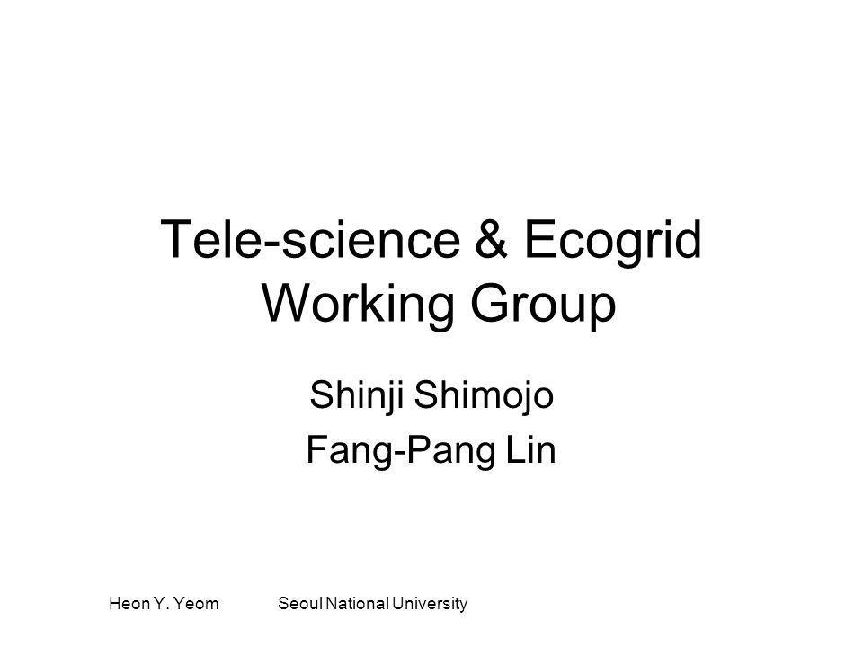 Heon Y. Yeom Seoul National University Tele-science & Ecogrid Working Group Shinji Shimojo Fang-Pang Lin