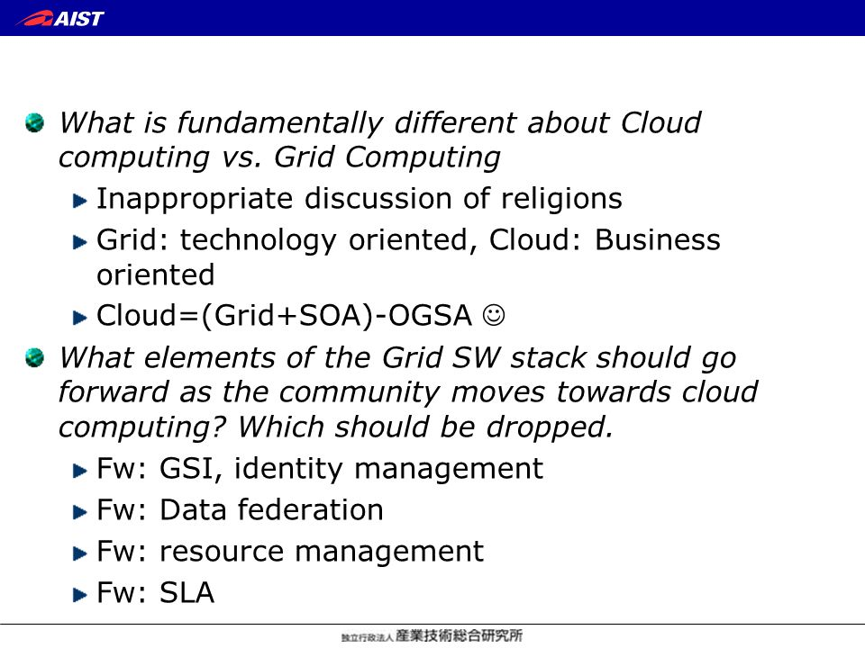 What is fundamentally different about Cloud computing vs.