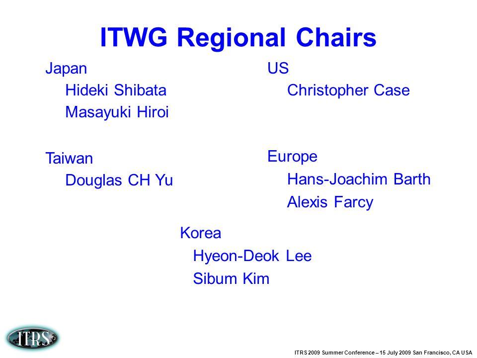 ITRS 2009 Summer Conference – 15 July 2009 San Francisco, CA USA Japan Hideki Shibata Masayuki Hiroi Taiwan Douglas CH Yu US Christopher Case Europe H