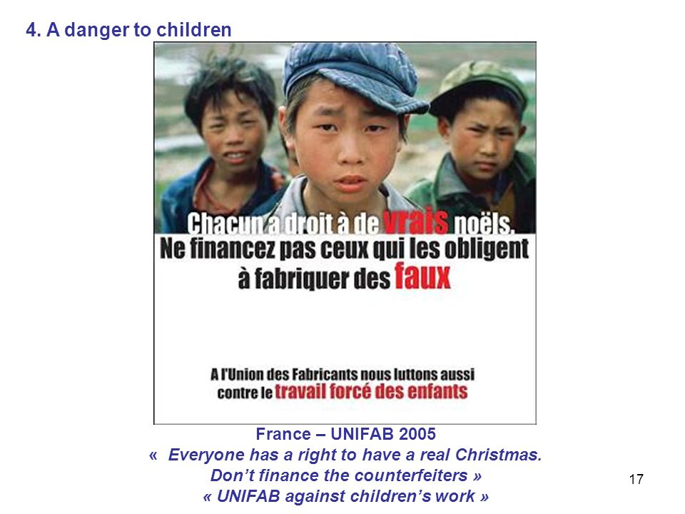 17 France – UNIFAB 2005 « Everyone has a right to have a real Christmas.