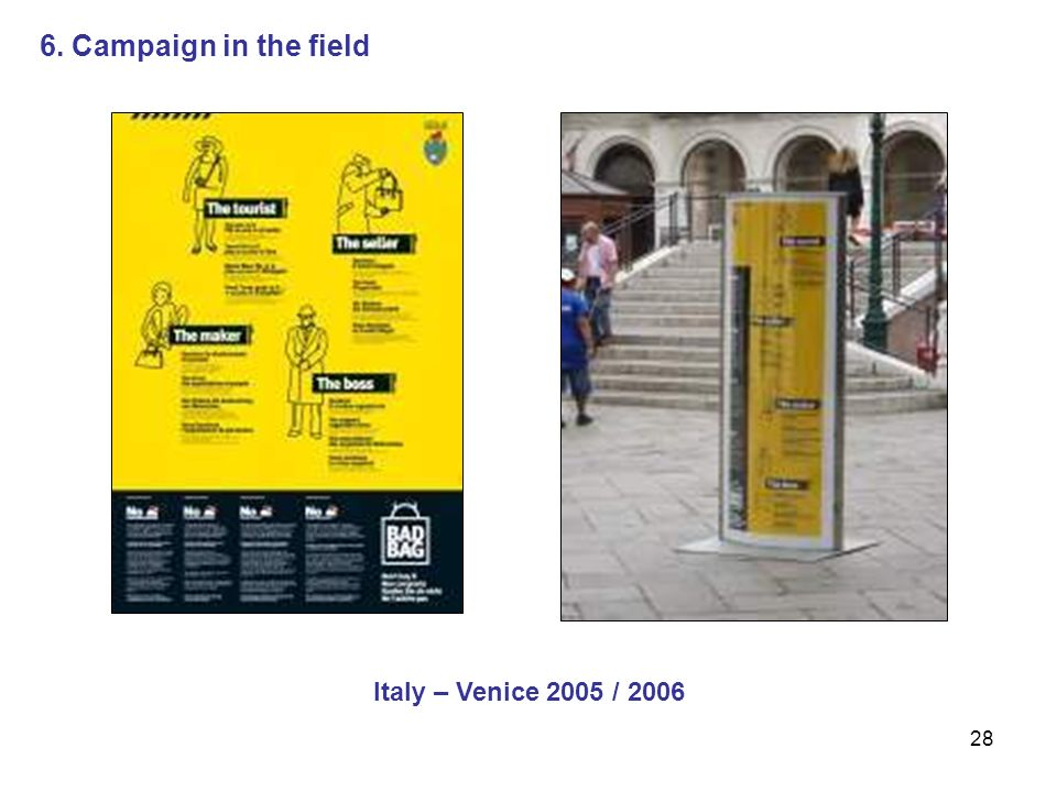 28 Italy – Venice 2005 / 2006 6. Campaign in the field