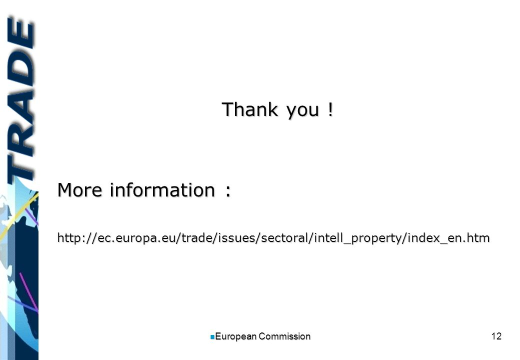 12 n European Commission Thank you .
