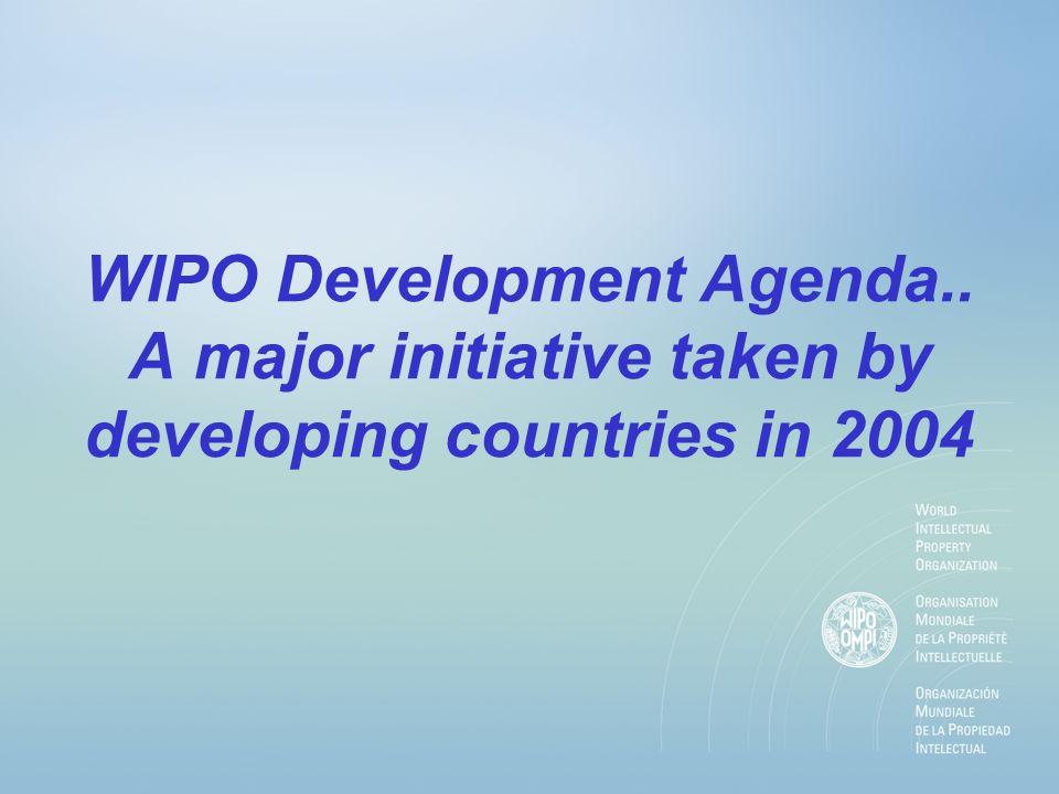What is the WIPO Development Agenda ?