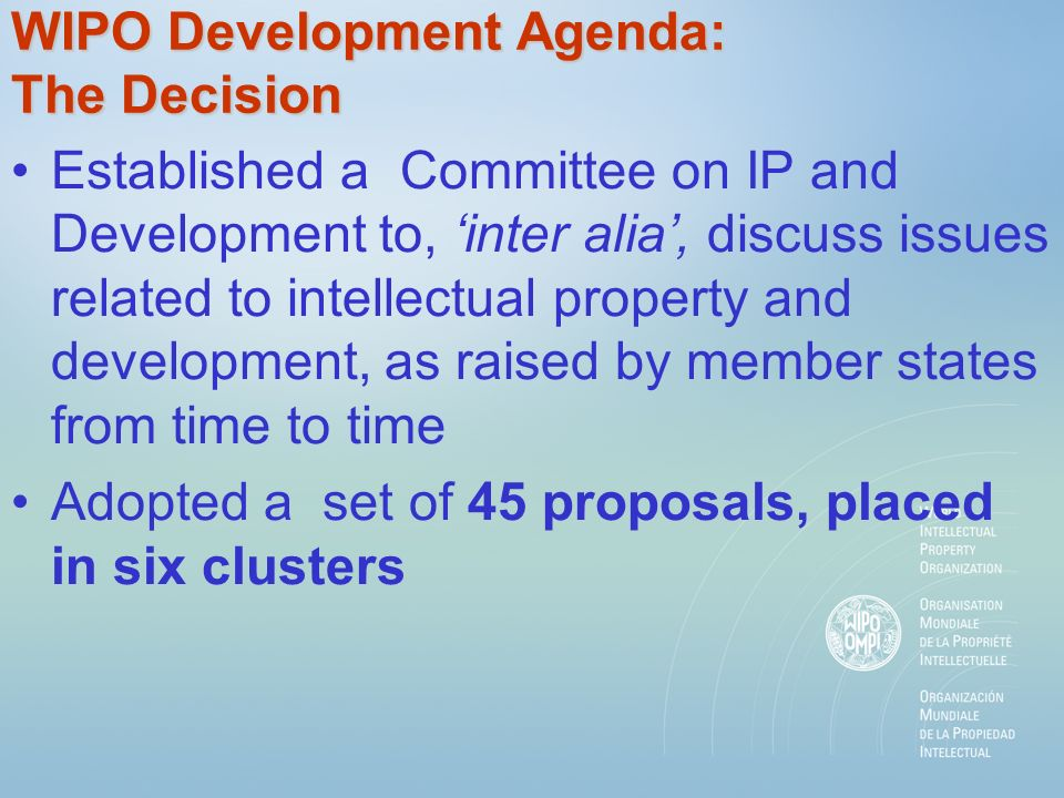 Clusters and Proposals - Adopted Others : on Enforcement