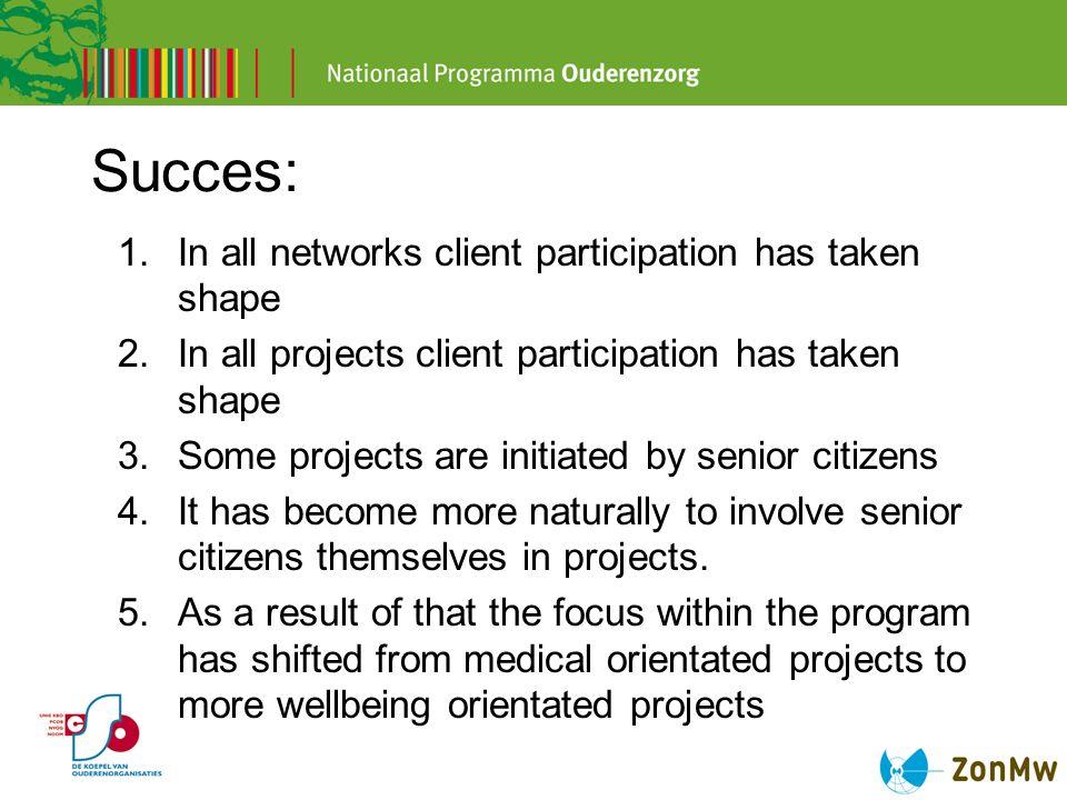 Lessons learned Client participation is a complex process.