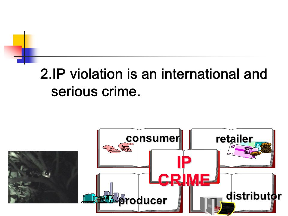 2.IP violation is an international and serious crime.