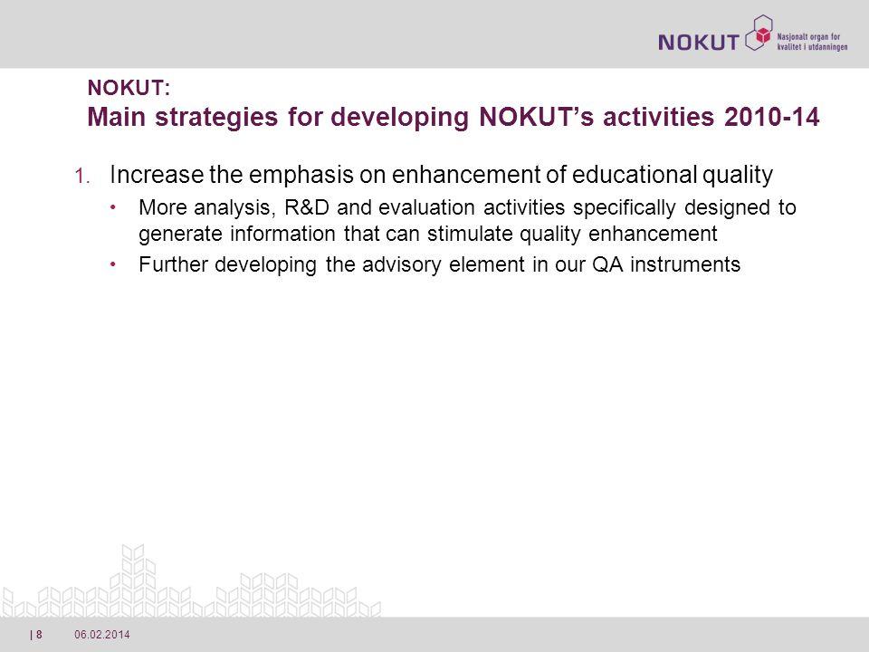 06.02.2014| 9 NOKUT: Main strategies for developing NOKUTs activities 2010-14 1.