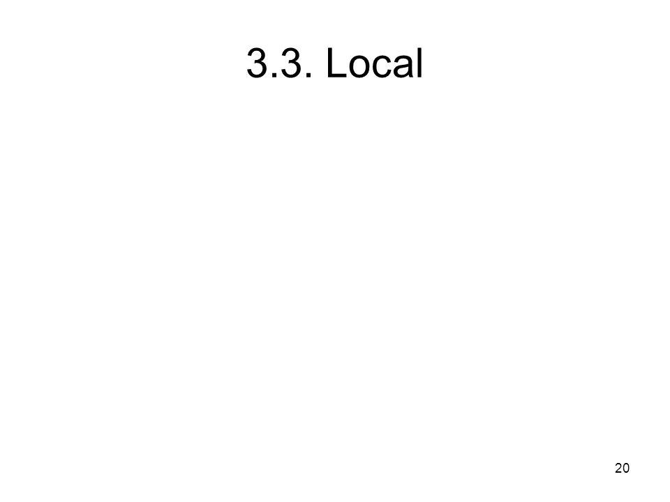 20 3.3. Local