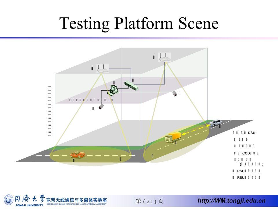 21 http://WM.tongji.edu.cn Testing Platform Scene