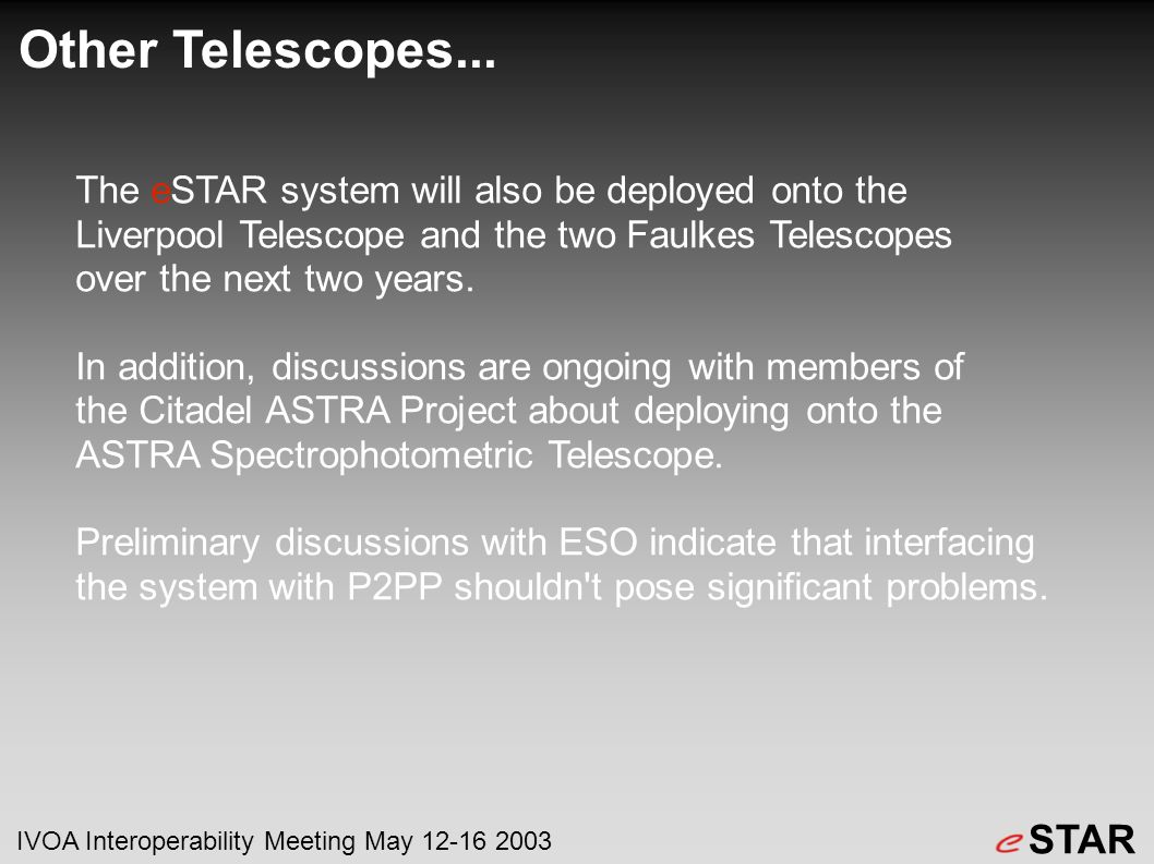 Other Telescopes...