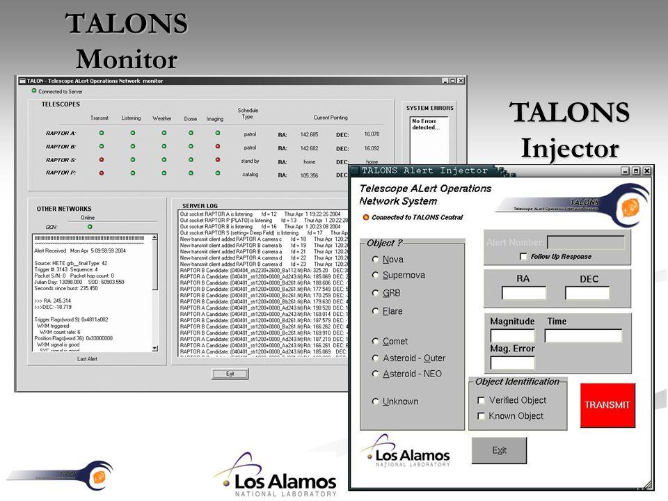 TALONS Monitor TALONS Injector
