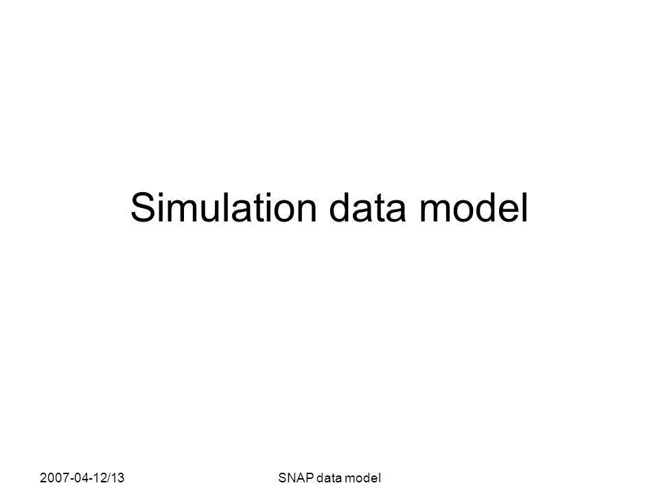 2007-04-12/13SNAP data model Simulation data model