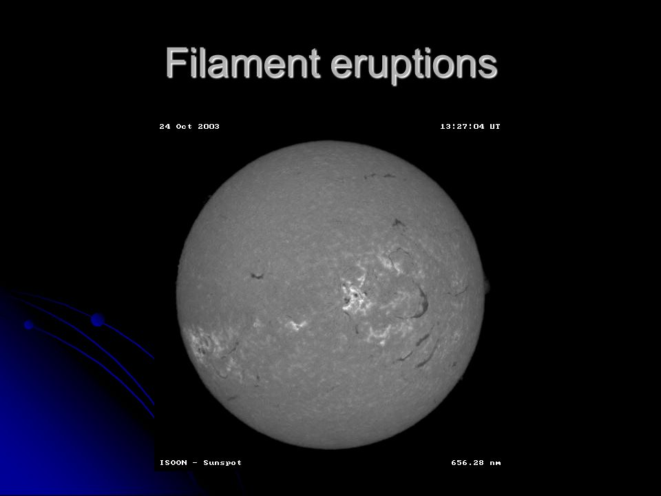 Filament eruptions