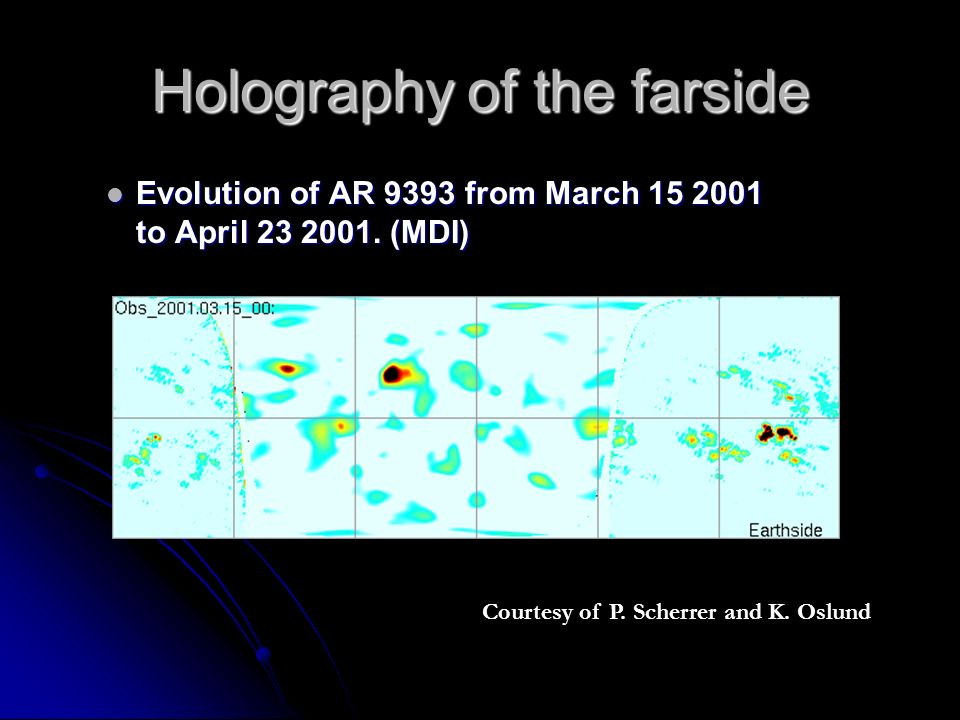 Holography of the farside Evolution of AR 9393 from March to April