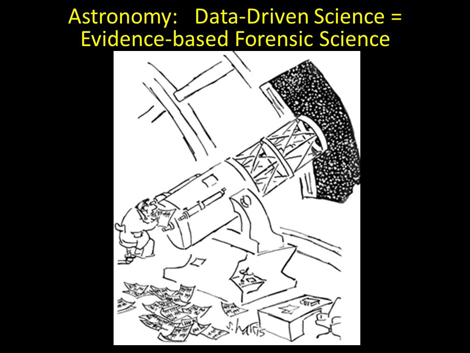 Astronomy: Data-Driven Science = Evidence-based Forensic Science