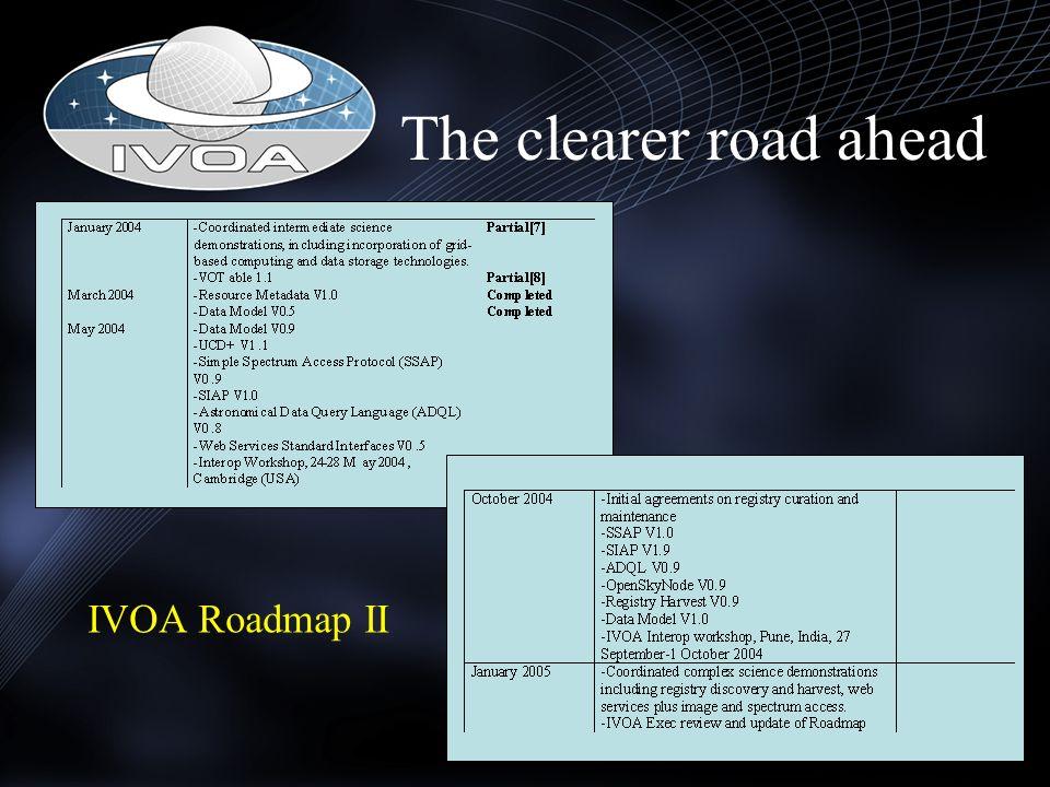 The clearer road ahead IVOA Roadmap II