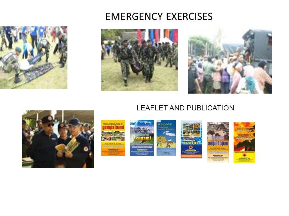 EMERGENCY EXERCISES LEAFLET AND PUBLICATION