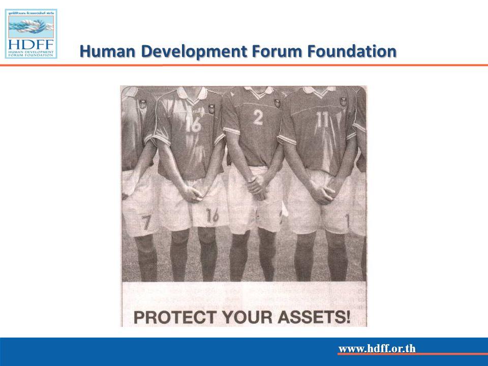 www.hdff.or.th Community Flood Damage Prevention by Royal Thai Armed Forces Head Quarters & Human Development Forum Foundation