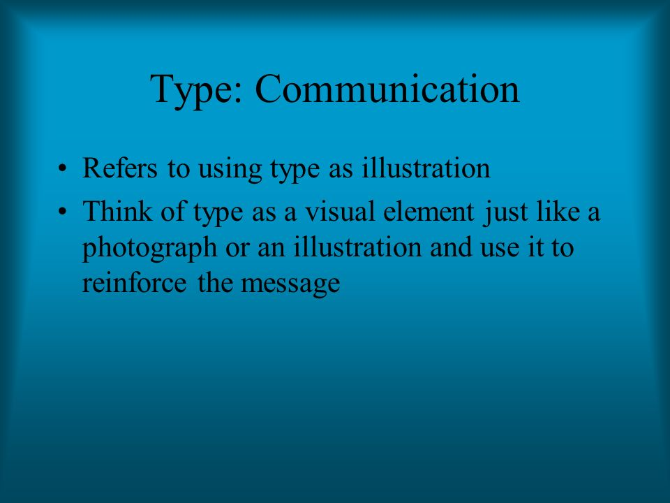 Type: Communication