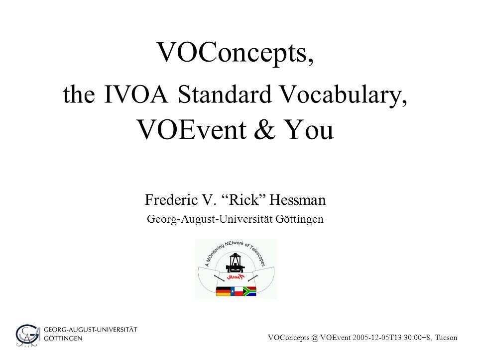 VOConcepts @ VOEvent 2005-12-05T13:30:00+8, Tucson History Misc.