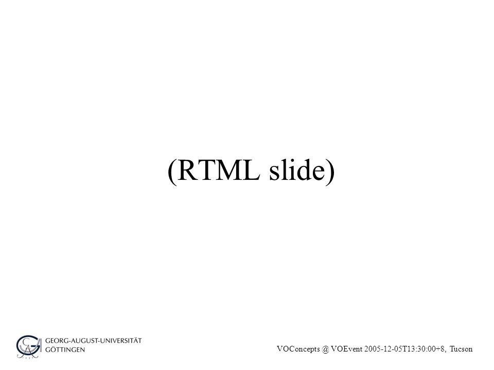 VOConcepts @ VOEvent 2005-12-05T13:30:00+8, Tucson (RTML slide)