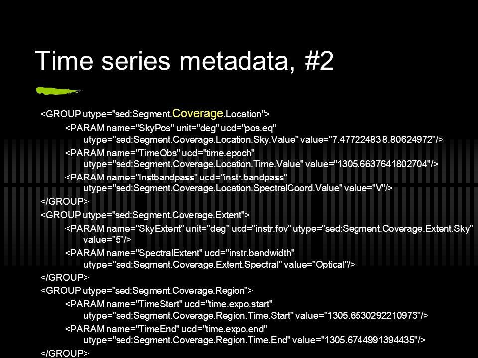 Time series metadata, #2