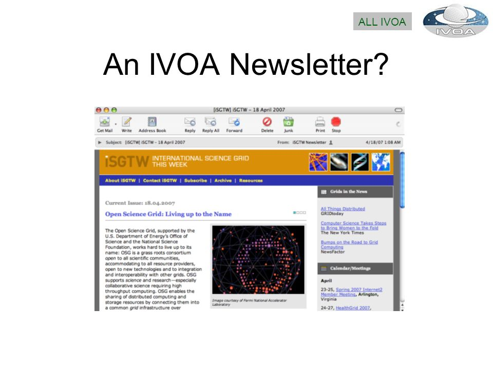 An IVOA Newsletter ALL IVOA