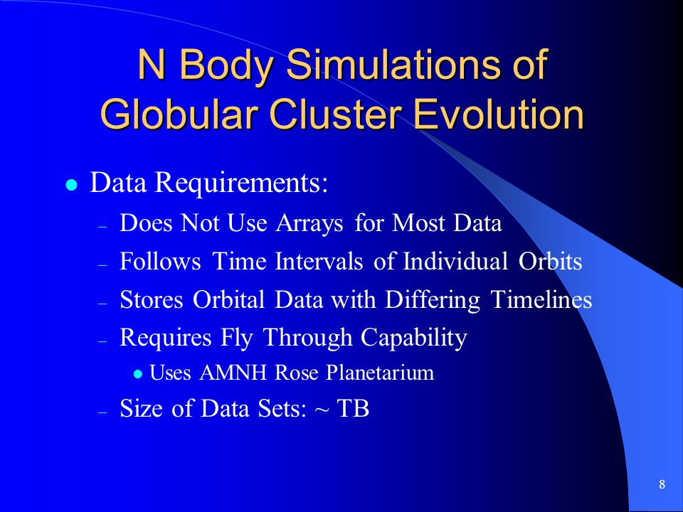 9 N Body Simulations of Globular Cluster Evolution Requires Definition of Theory MetaData Standards Before Further Progress Can Be Made
