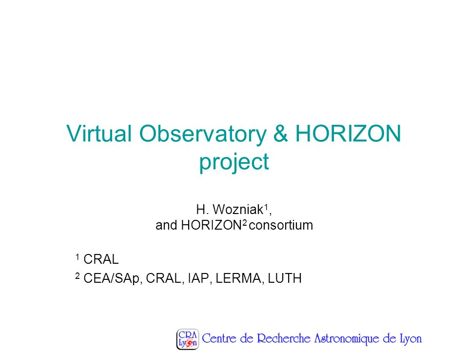 Virtual Observatory & HORIZON project H.