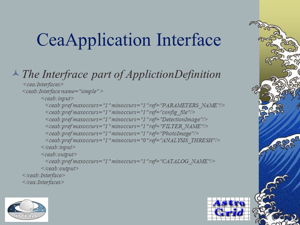 CeaApplication Interface The Interfrace part of ApplictionDefinition