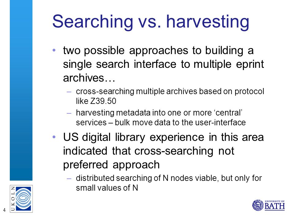 4 Searching vs.