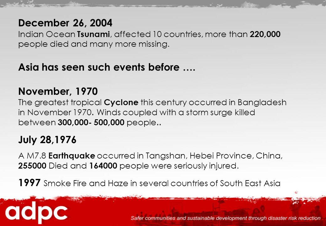 Total Impact of Tsunami (Million US $) DamageLossTotal Indonesia 292015314451 Thailand 50816902198 India 5756491224 Sri Lanka 11443101454 Maldives 450153603 Total 559743339930