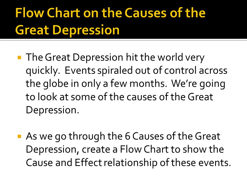 The Great Depression hit the world very quickly.